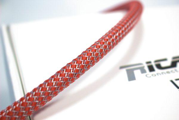 Custom RG08 Rosso/Grigio - Calza per cavo 4-10 mm guaina estensibile