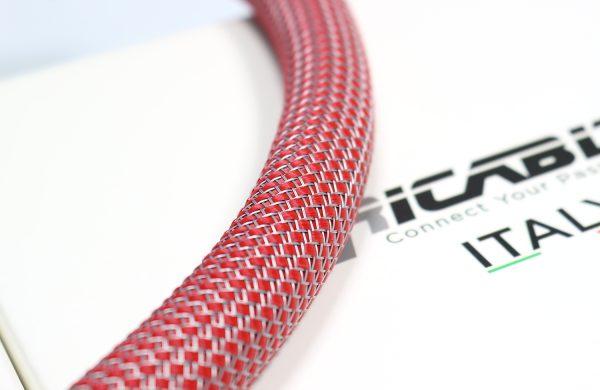 Custom RG20 Rosso/Grigio- Calza per cavo 16-22 mm guaina estensibile