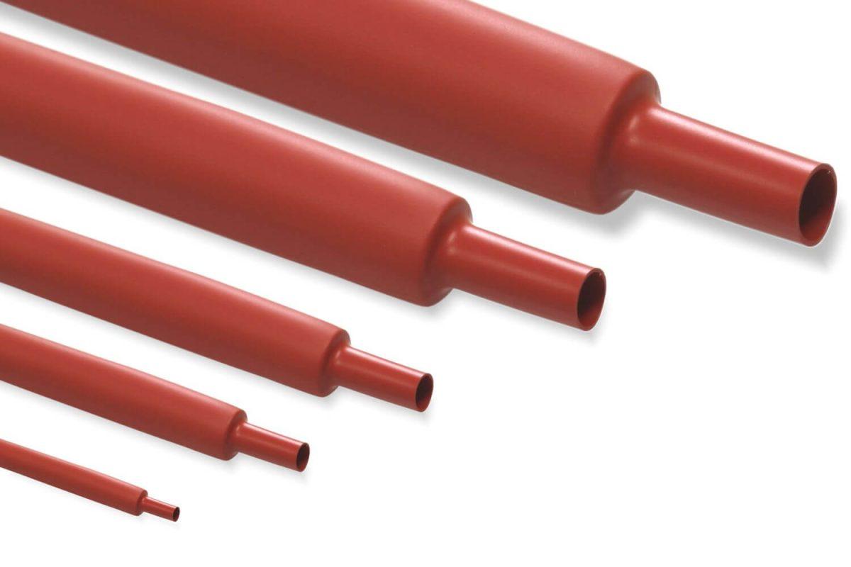 Custom R201 - Diametro 1 mm con Restringimento 2:1 - Guaina Termorestringente Rossa